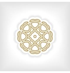 Gold mandala or geometrical figure decorative vector image
