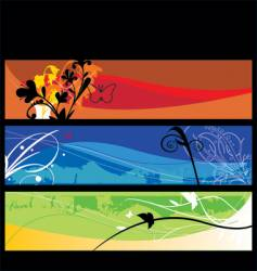 landscape layers vector image vector image