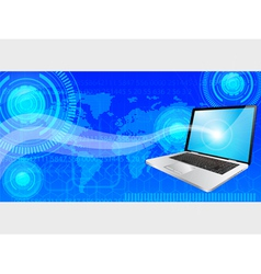 laptop background vector image vector image