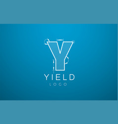 logo template letter y in the style of a vector image vector image
