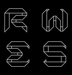Logo templates of letters Letters RWES Monochrome vector image vector image