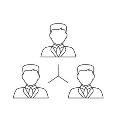 people network line icon vector image vector image