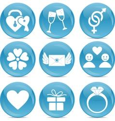 Romantic web icons vector image