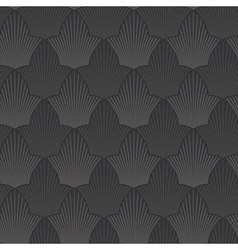 seamless abstract black flower background vector image
