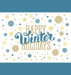Winter holidays vector image