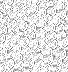 abstract monochrome curves seamless pattern vector image vector image