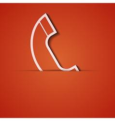 background Orange icon applique Eps10 vector image