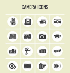 camera and video icons set eps 10 vector image vector image