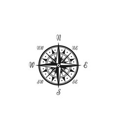 compass wind rose marine nautical icon vector image vector image