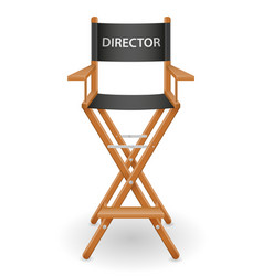 director cinema chair stock vector image