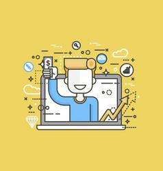 man money in hand design vector image vector image