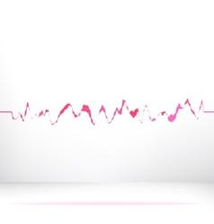 Red pink waveform background EPS8 vector image