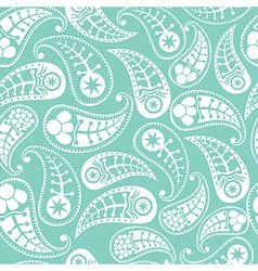 Seamless paisley texture in blue vector image vector image