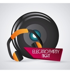 Speaker and headphone icon dance and music design vector