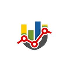 abstract colorful shield shape financial logo vector image