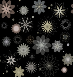 Abstract flowers a seamless pattern wallpaper vector image