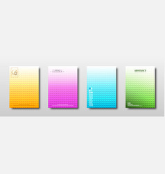 Abstract geometric square texture with colorful vector