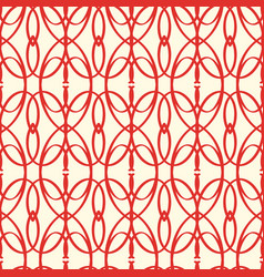 Abstract seamless red elements pattern vector