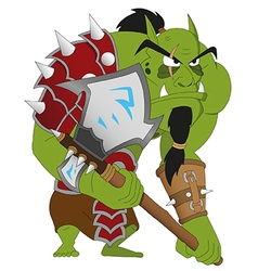 angry orc warrior vector image