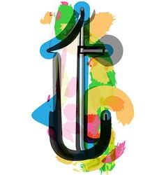 Artistic Font - Letter t vector
