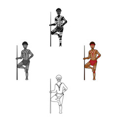 Australian aborigine icon in cartoonblack style vector