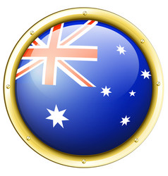 badge design for australia flag vector image