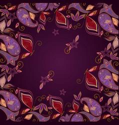 Bandana paisley and butterflies- classic design vector