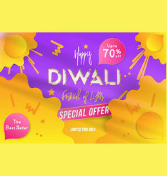 Banner diwali festival of lights with special vector