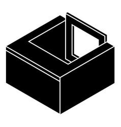 Basement window frame icon simple black style vector