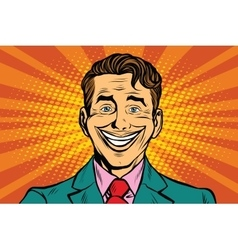 big fake smile vector image