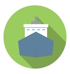 Big ship icon flat style vector