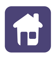 Button with the icon of a house vector