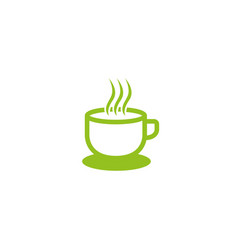 cafe mag warm coffee logo design tea icon vector image