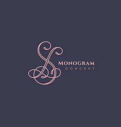 Calligraphic monogram sl vector