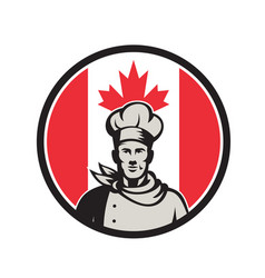 canadian chef baker canada flag icon vector image