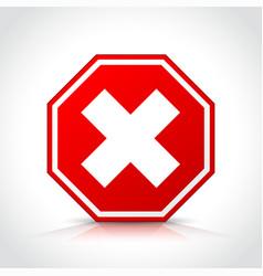 Cancel icon red symbol vector