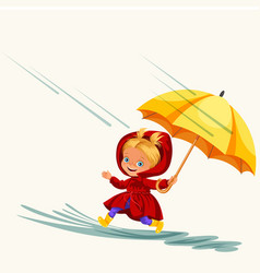 children walking under raining sky vector image
