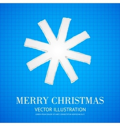 Christmas in school style with snowflake vector image