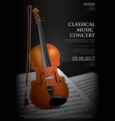 Classical music concept violin vector