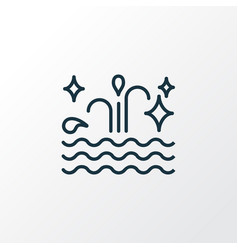 clean water icon line symbol premium quality vector image