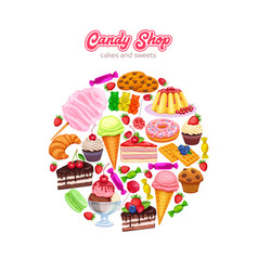 Confectionery and sweets vector