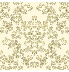 Damask seamless patterns vector image vector image