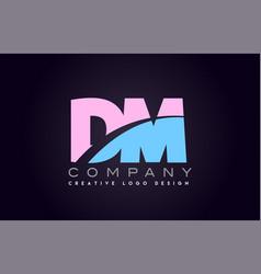 Dm alphabet letter join joined letter logo design vector