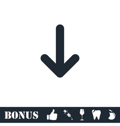 Down arrow icon flat vector image