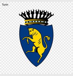 Emblem of turin vector