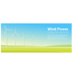 Energy concept background with wind turbine 25 vector