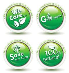 Environmental Awareness Icons vector image
