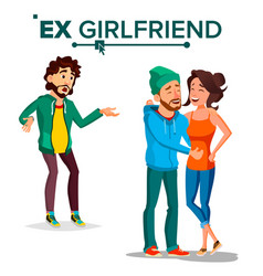 ex girlfriend young couple past vector image