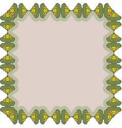 Floral vintage frame vector
