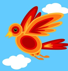 Graphic shape bird vector image